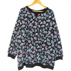 Woman Within Holly Graphic Sweater Plus Size 26/28